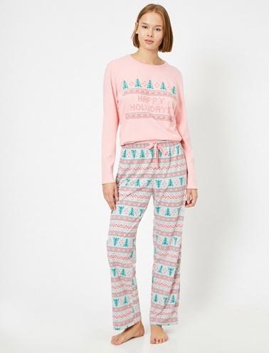 Koton Pijama Takım Pembe